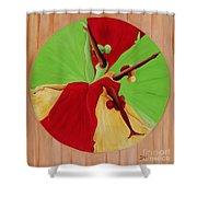 Dance Circle Shower Curtain