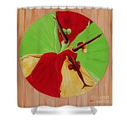 Dance Circle Shower Curtain by Ikahl Beckford