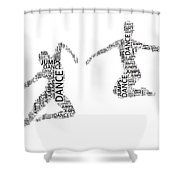 Dance Duo Shower Curtain