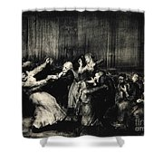 Dance In A Madhouse Shower Curtain