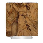 Dance In The Country 1883 Shower Curtain