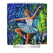 Dance In The Rain Of Color  Shower Curtain