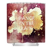 Dance In The Rain Red Version Shower Curtain