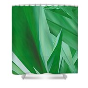 Dance Of Green Leaves Shower Curtain