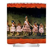 Dance Of La Ninos Shower Curtain