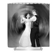 Dance Of Love Shower Curtain by Daniel Csoka