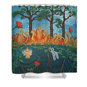 Dance Of The Dragonfly. / The Best Is Yet To Come. Shower Curtain