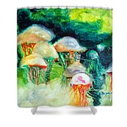 Dance Of The Jellyfish Shower Curtain