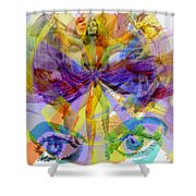 Dance Of The Rainbow  Shower Curtain