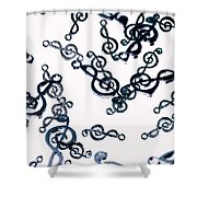 Dance Of The Treble Clef  Shower Curtain