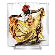 Dance The Belair Shower Curtain