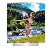 Dance To The Waterfall Shower Curtain