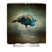 Dance To Your Own Tune - Peacock Art Shower Curtain
