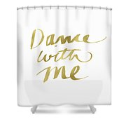 Dance With Me Gold- Art By Linda Woods Shower Curtain