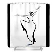 Dancer 2 Shower Curtain