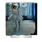 Dancer In Front Of A Window Shower Curtain