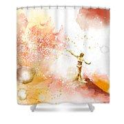 Dancer On Water 2 Shower Curtain