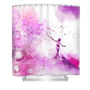 Dancer On Water 4 Shower Curtain