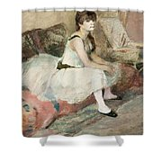 Dancer Seated On A Pink Divan 1884 Shower Curtain