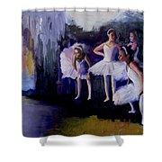Dancers Backstage Shower Curtain