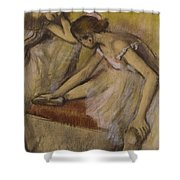 Dancers In Repose Shower Curtain by Edgar Degas