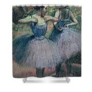 Dancers In Violet  Shower Curtain