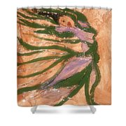 Dancing - Tile Shower Curtain