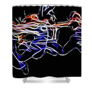 Dancing Abstract Shower Curtain