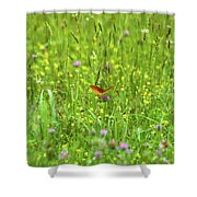 Dancing Among The Flowers Shower Curtain