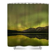 Dancing Around The Mountains Shower Curtain