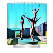 Dancing At Sea Ranch Shower Curtain