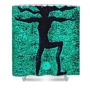 Dancing At The Creation Of The Green Earth Shower Curtain
