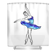 Dancing Ballerina Frosted Blue Shower Curtain