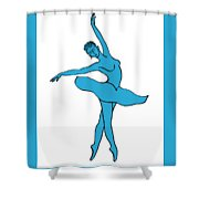 Dancing Ballerina Silhouette Shower Curtain