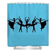 Dancing Ballerinas Silhouette Shower Curtain