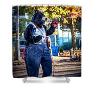 Banjo Beary In Pritchard Park Shower Curtain