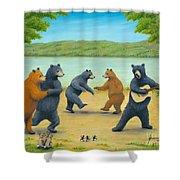 Dancing Bears Shower Curtain