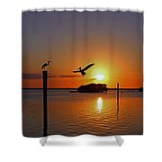 Dancing By Firelight Shower Curtain