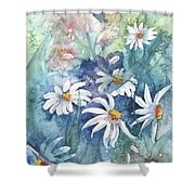 Dancing Daisies Shower Curtain