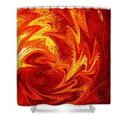 Dancing Flames Abstract  Shower Curtain