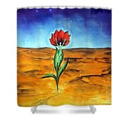 Dancing Flower-girl Shower Curtain