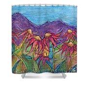 Dancing Flowers Shower Curtain