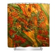 Dancing Gals - Tile Shower Curtain