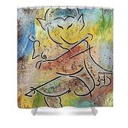 Dancing Ganesha Shower Curtain