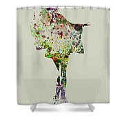 Dancing Geisha Shower Curtain