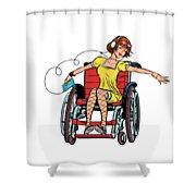 Dancing Girl In A Wheelchair Shower Curtain