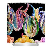Dancing Glass Objects Shower Curtain