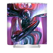 Dancing Hallucination Abstract Shower Curtain