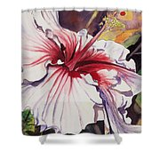 Dancing Hibiscus Shower Curtain