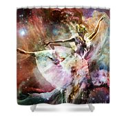 Dancing In Stardust Shower Curtain